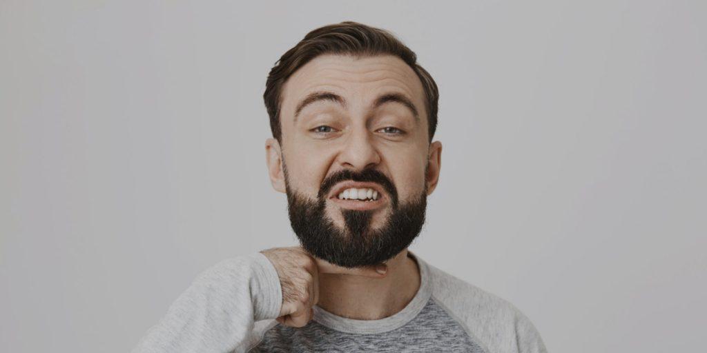 beard clean lines