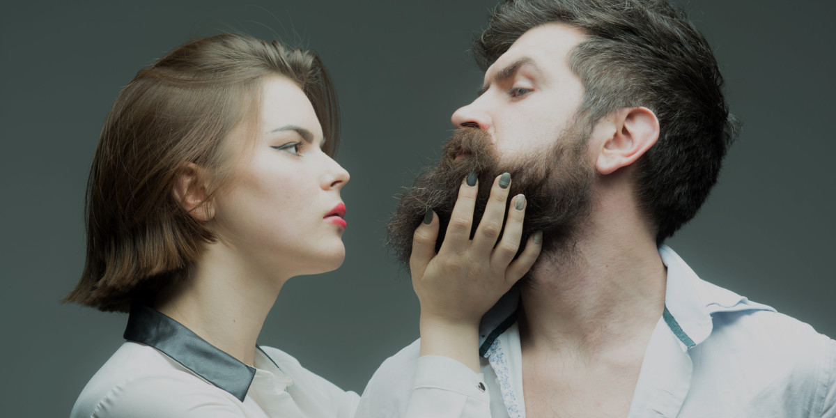 beard guy and woman