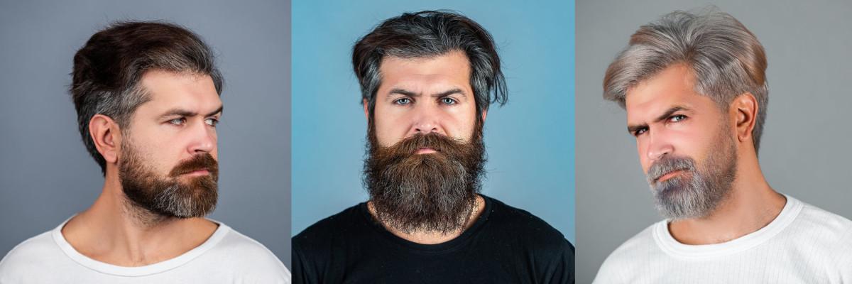 man having beard dyed